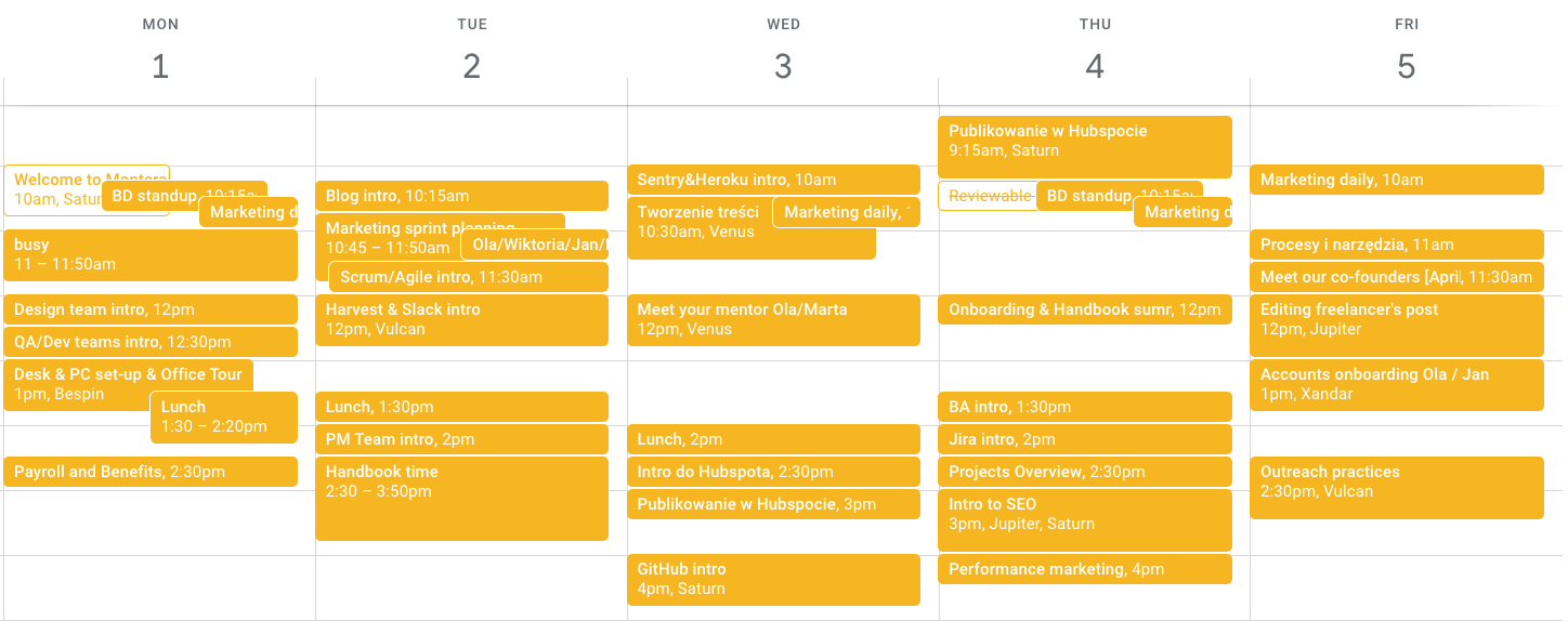A preview of the onboarding process at Monterail