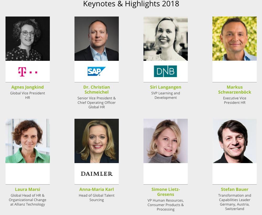 Keynotes&Highlights during Rethink HR tech in 2018