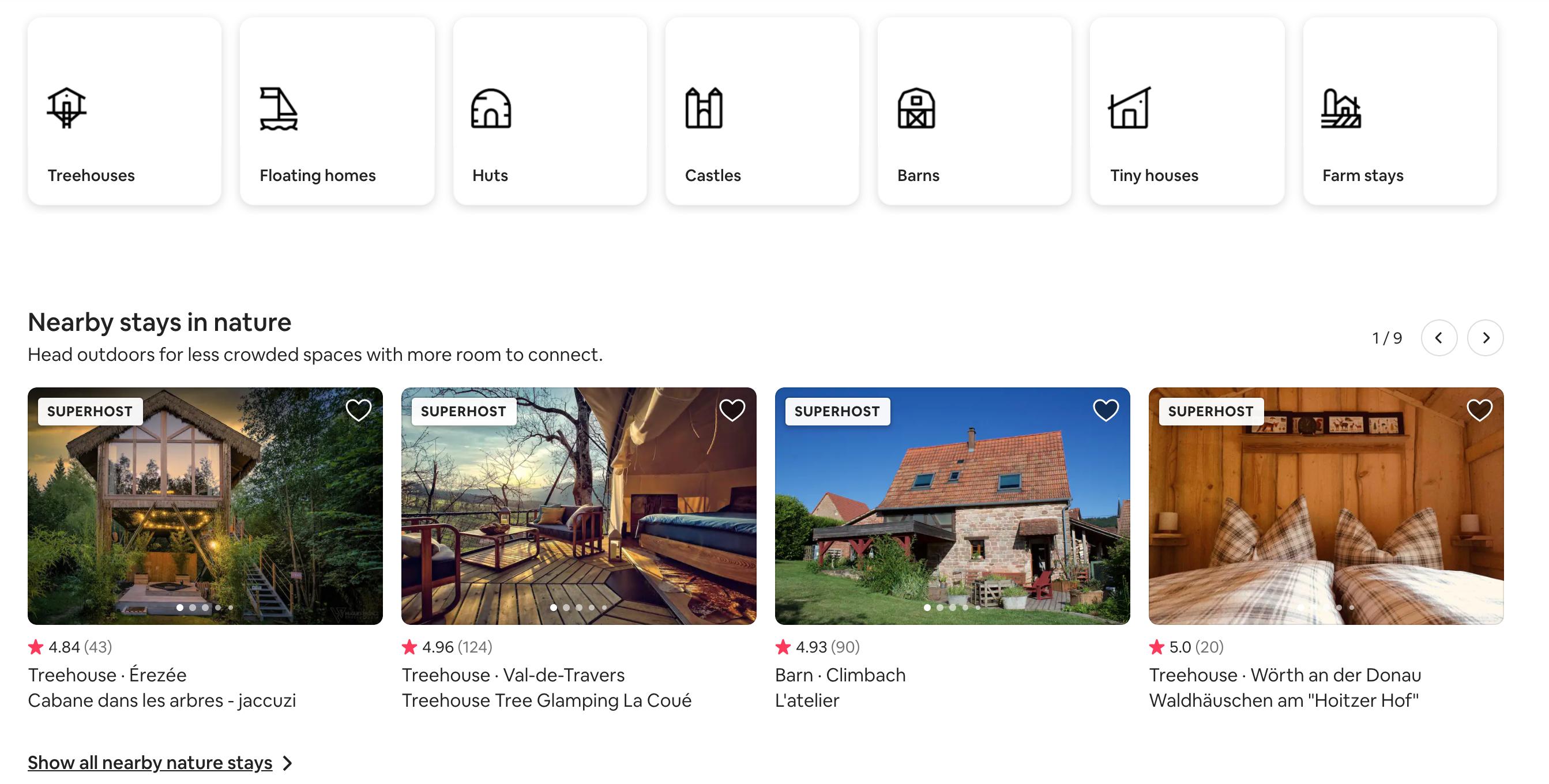 Aibnb web app dashboard