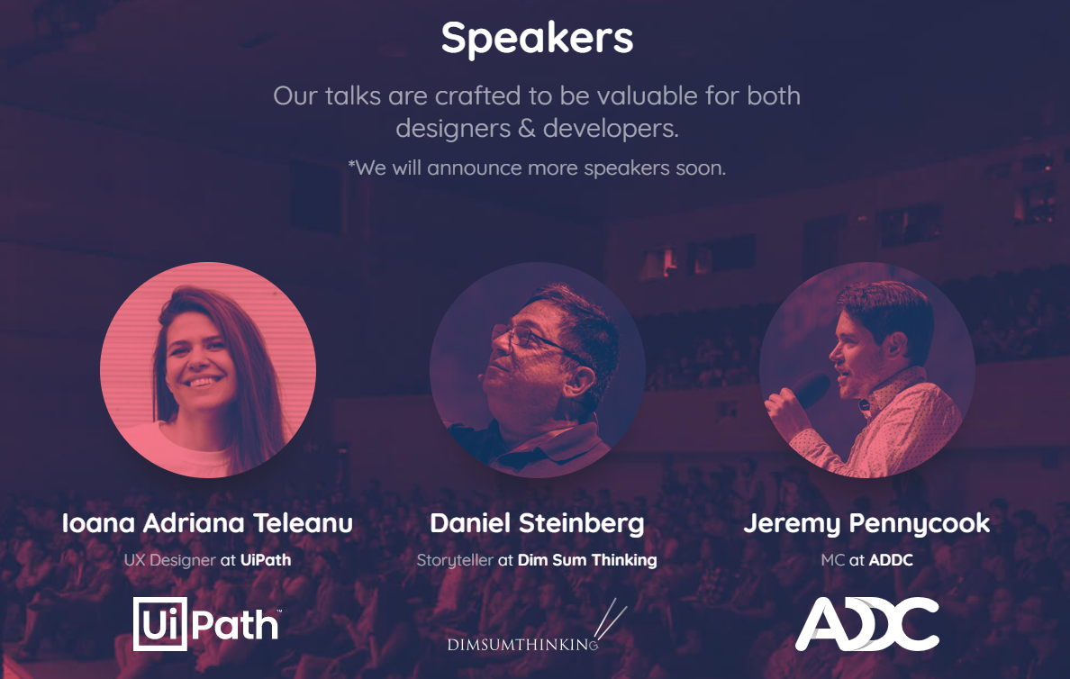 Early speakers ADDC 2020
