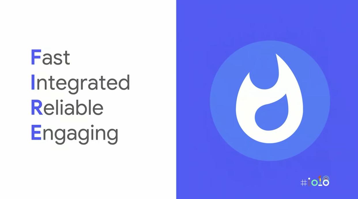 A slide from Google I / O 18' FIRE