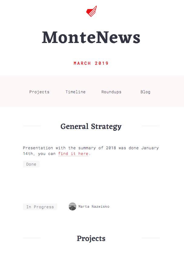 Monte News release