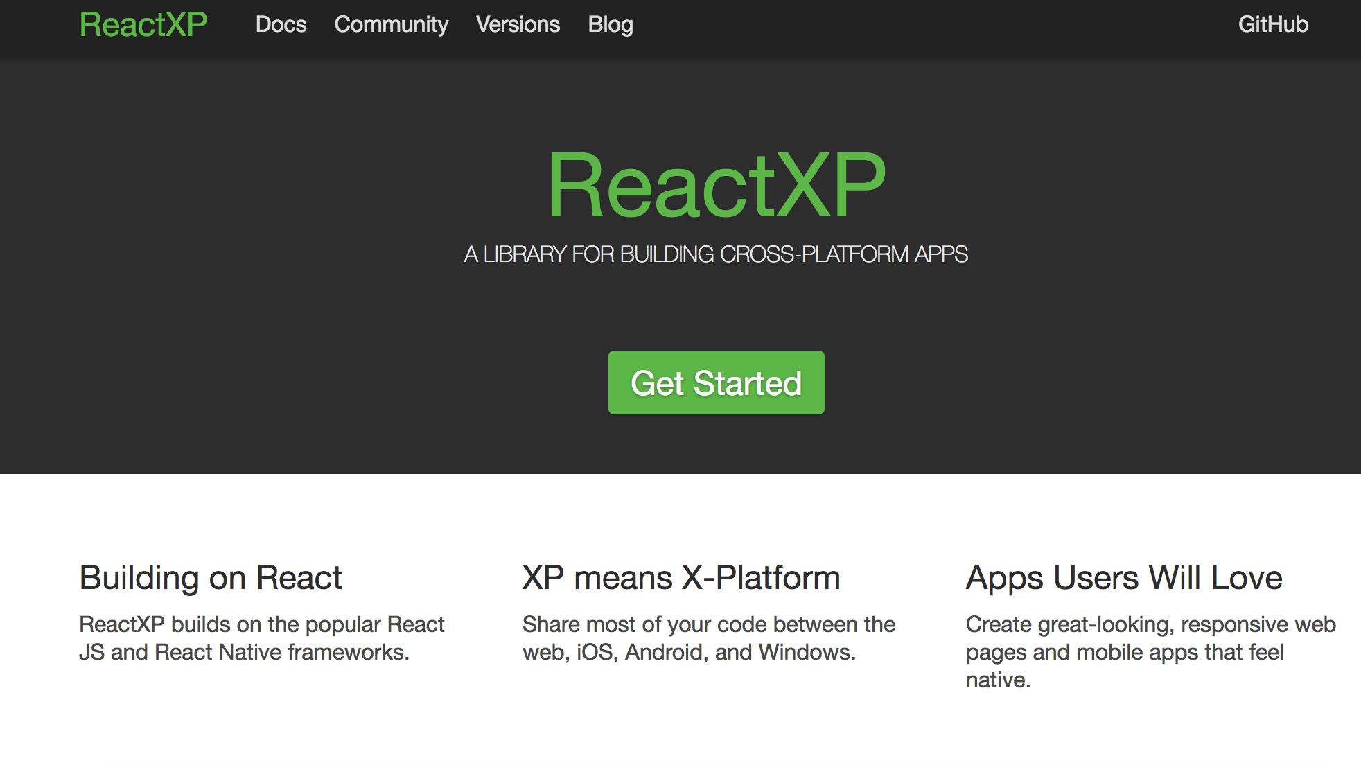 ReactXP screenshot