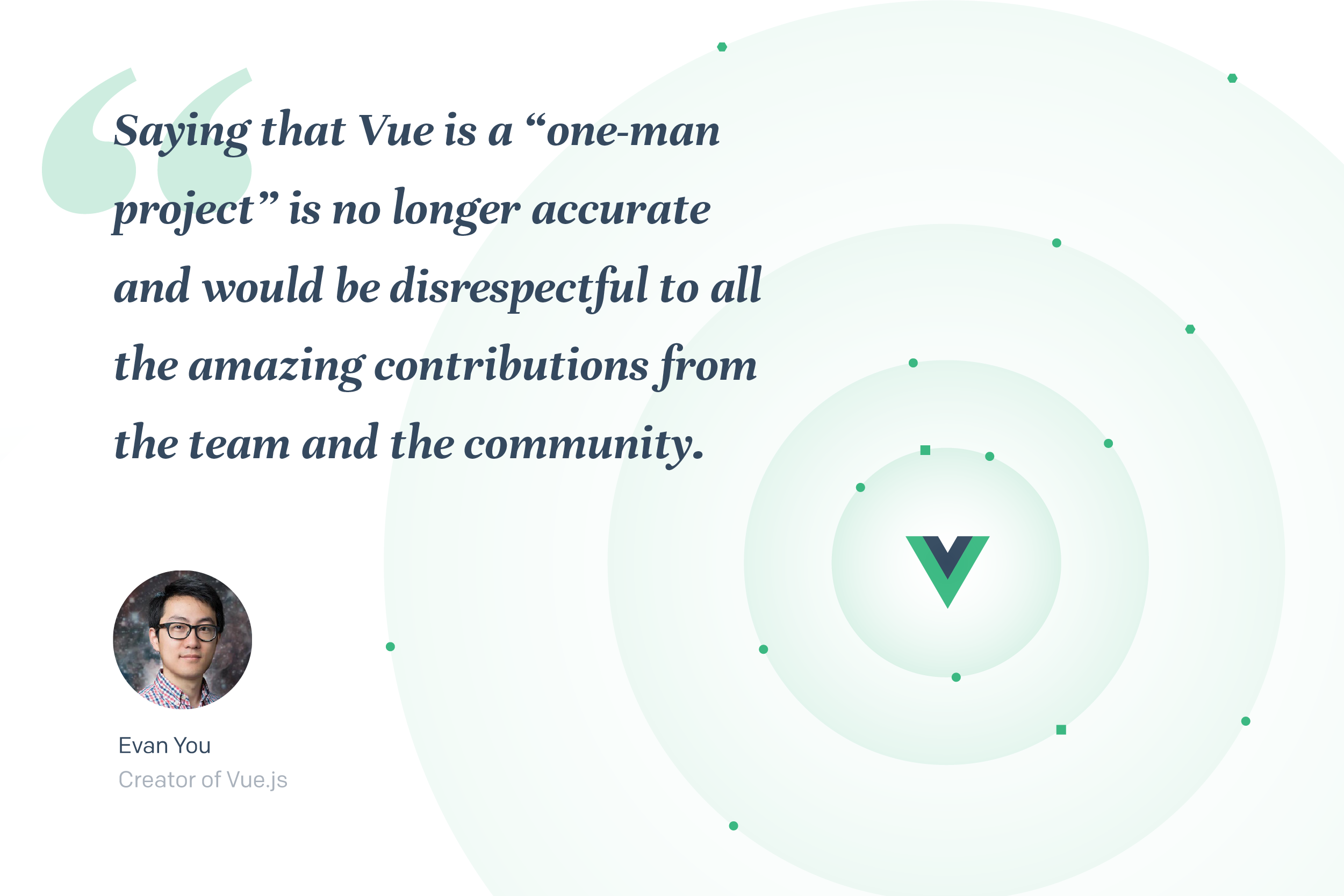 Evan You quote on Vue.js