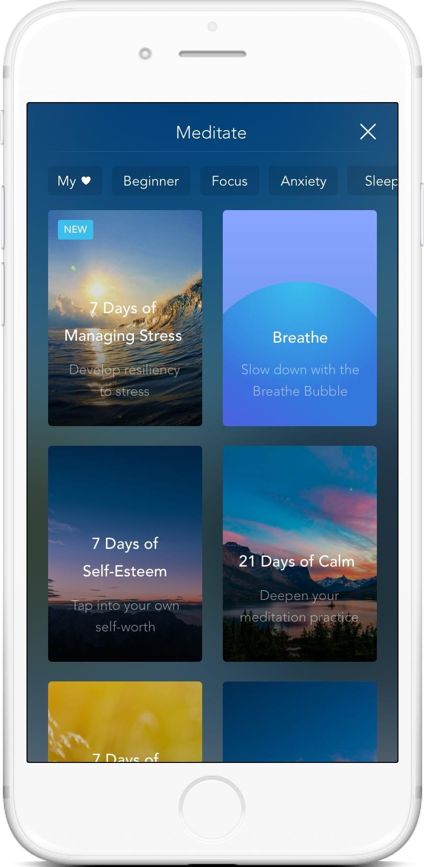Calm App_mHealth examples_Monterail.com