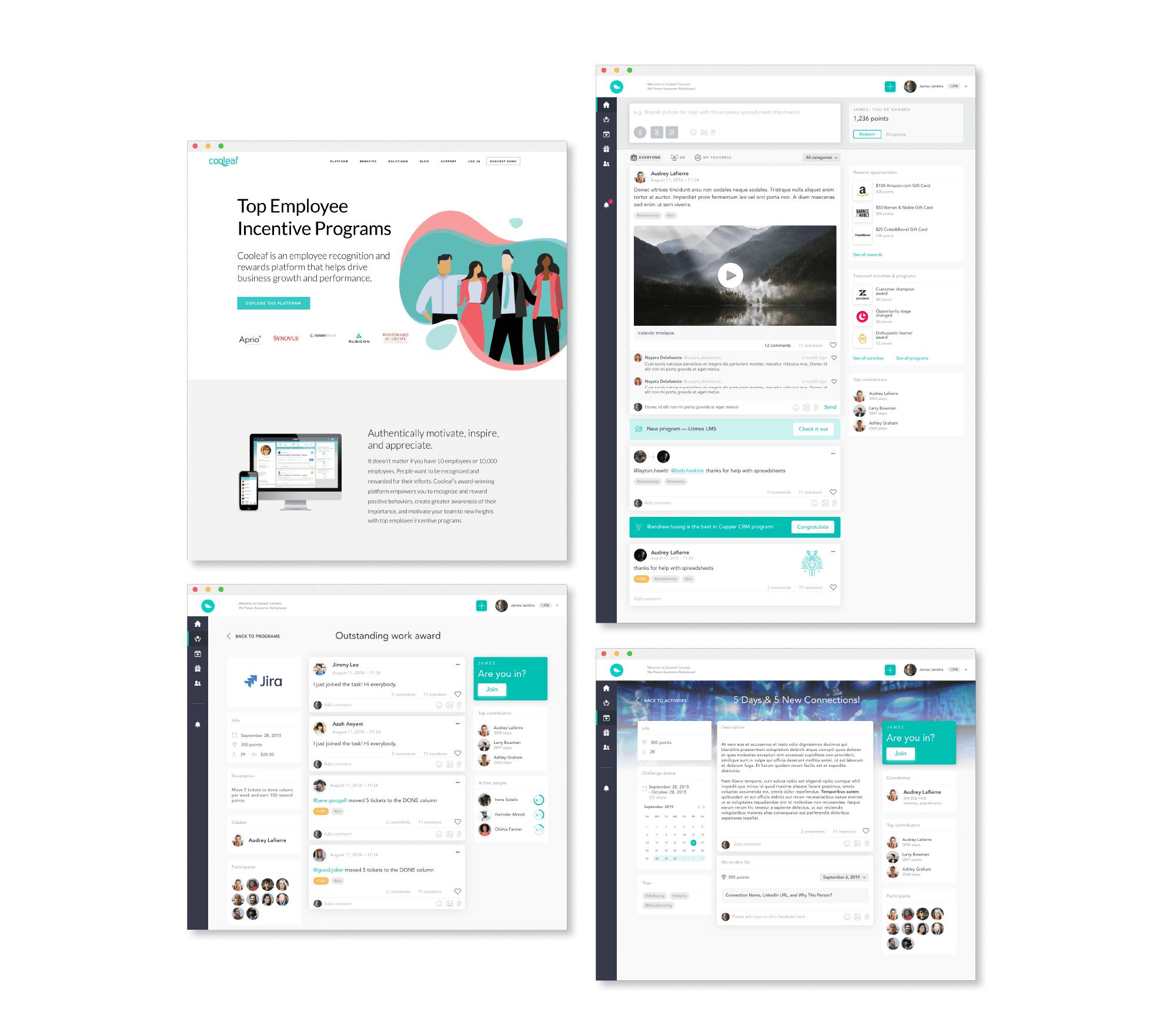Cooleaf web view