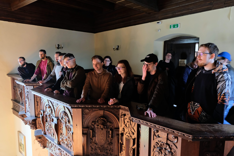 Monterail team visiting Castle Czocha