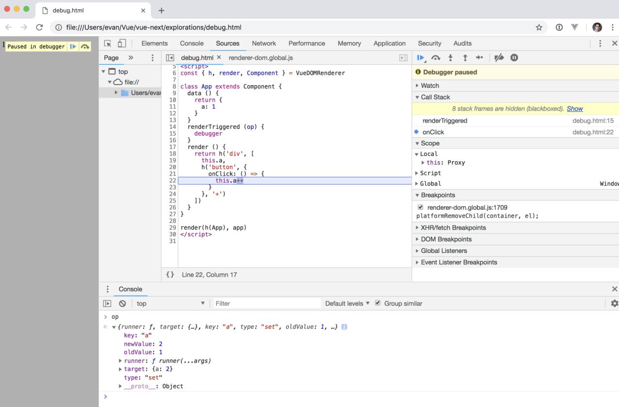 Debug no. 1-1 for Vue.js development