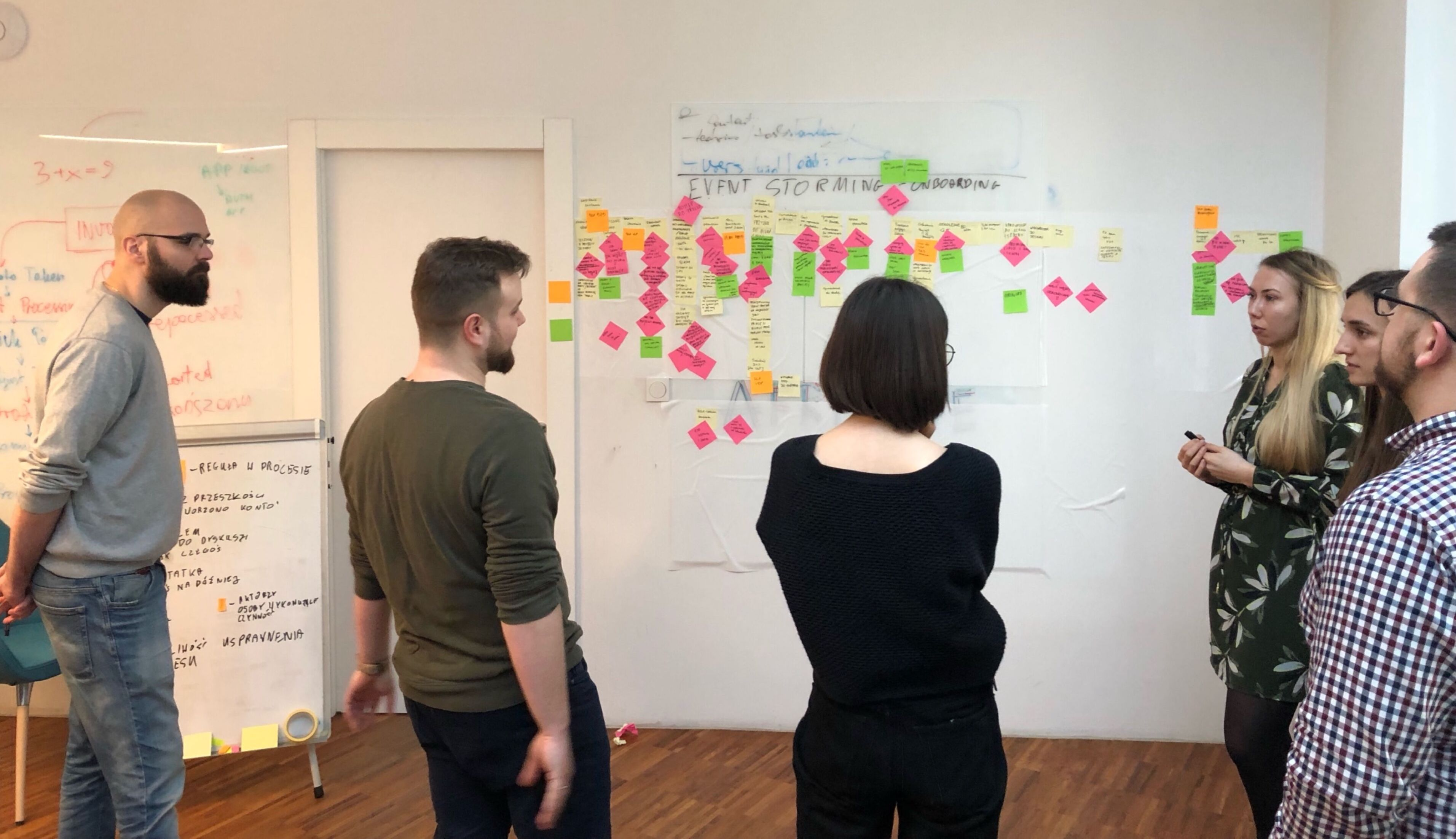 Event Storming in HR onboarding process at Monterail