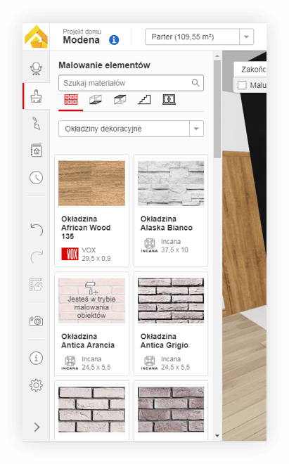 iDesigner app interface - Monterail Projects