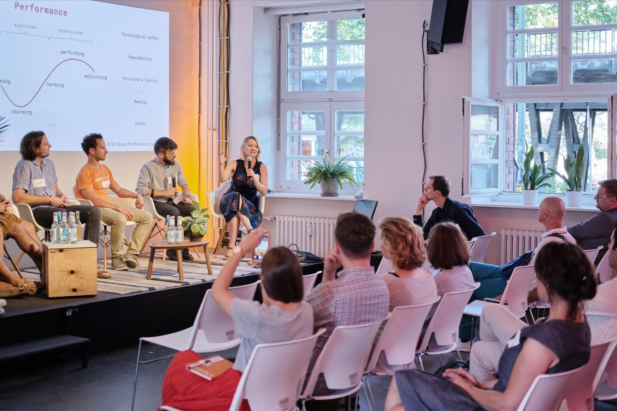 A discussion panel during HR tech event in Berlin