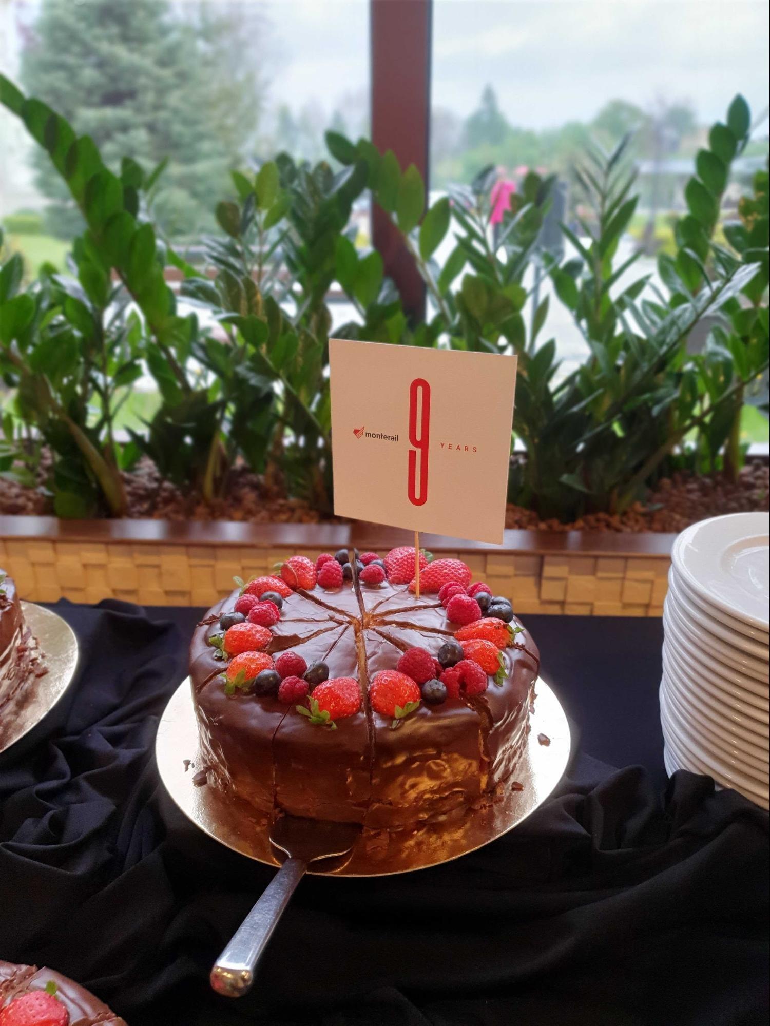 Monterail Birthday Cake