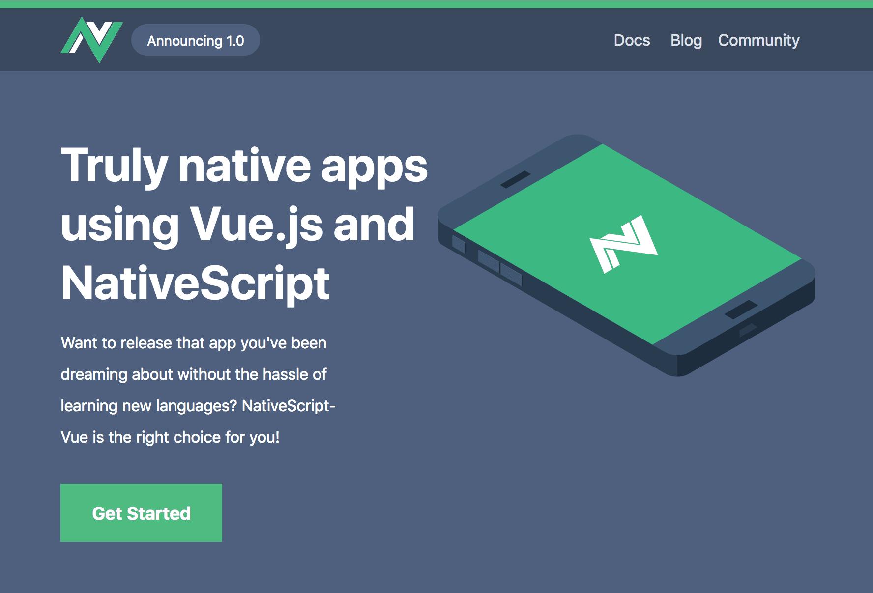 NativeScript-Vue 1.0