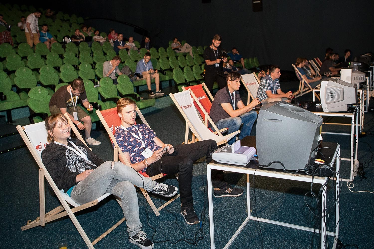 Gaming room during VueConf