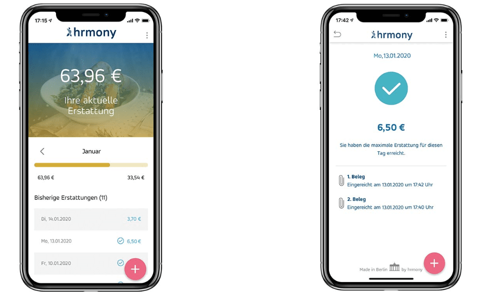 Harmony - mobile app dashboard