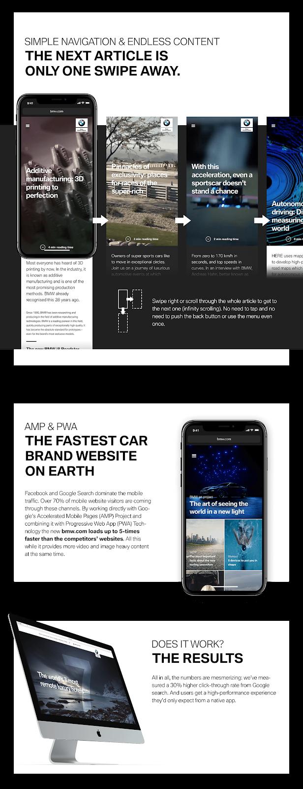 BMW PWA app