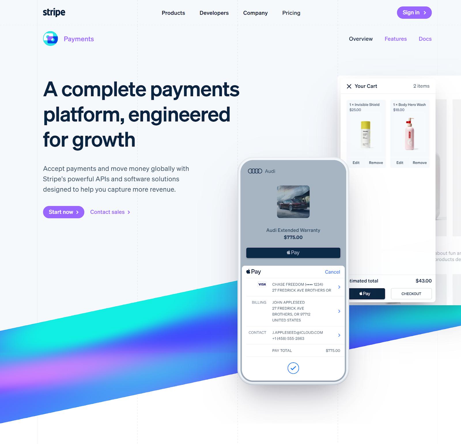 Stripe — payments integration platform.
