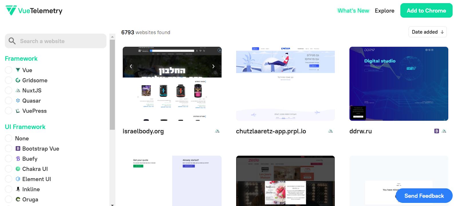 Vue Telemetry website