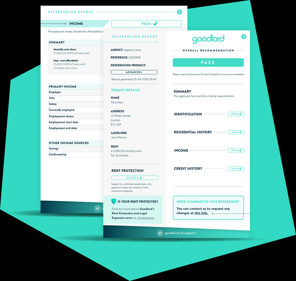 dashboard of GoodLord - a tool for managing rental process