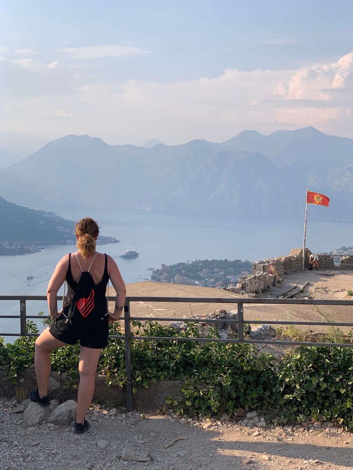 Monterail employee on sabbatical leave - Kasia in Montenegro.