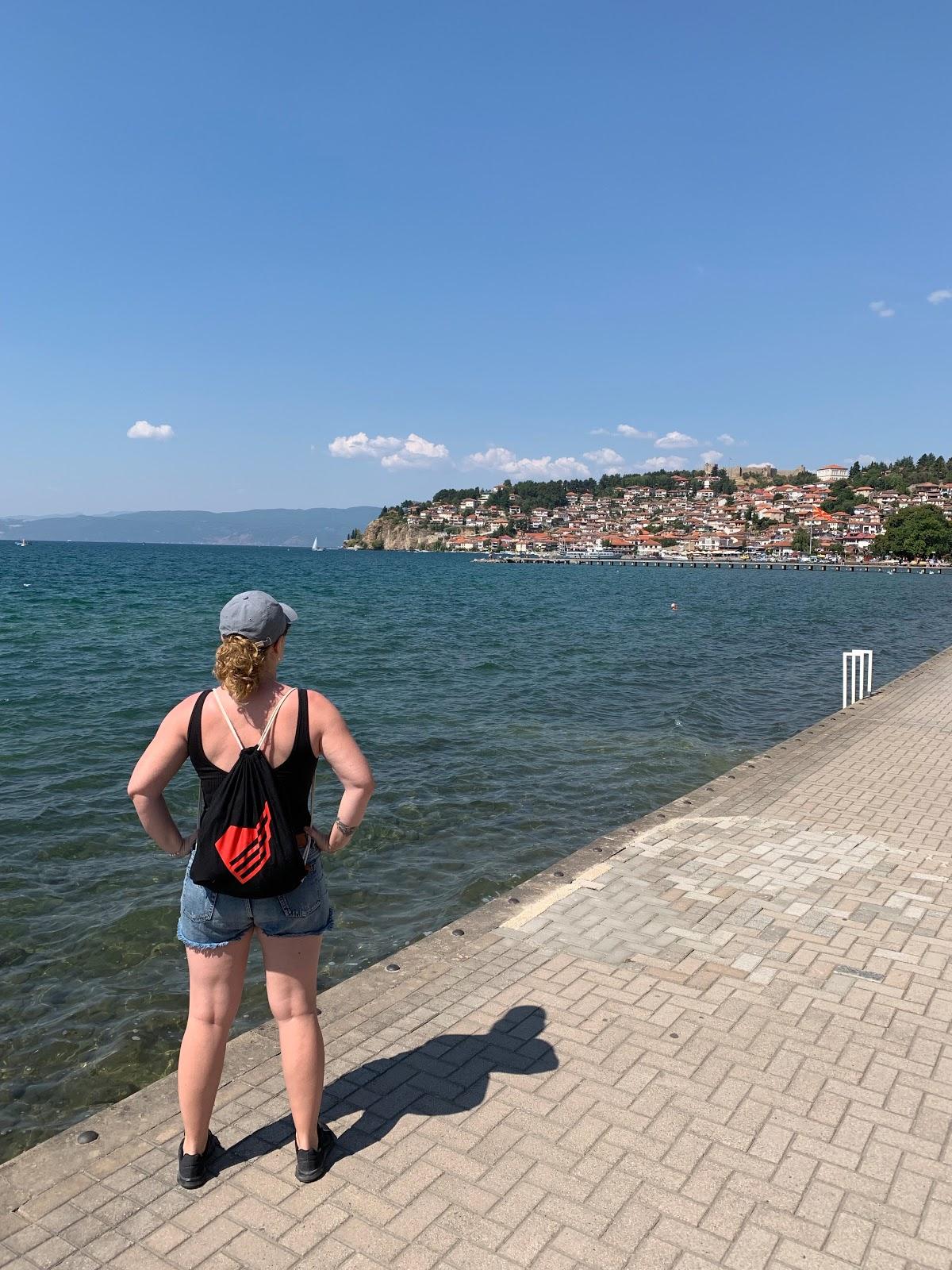 Monterail employee on sabbatical leave - Kasia in Macedonia.