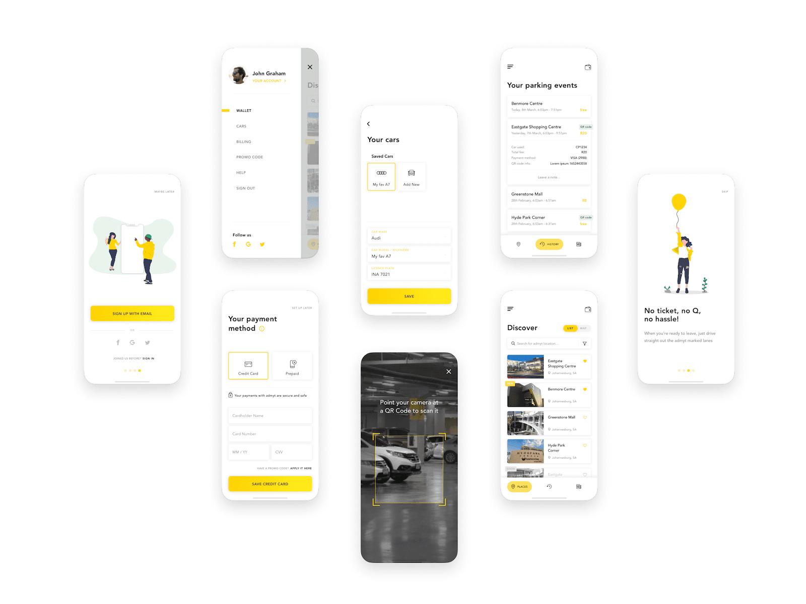 Admyt app view
