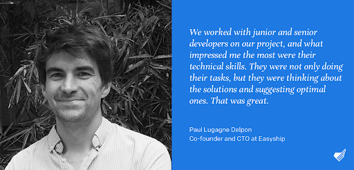 Quote from Paul Lugagne Delpon on collaboration with Monterail