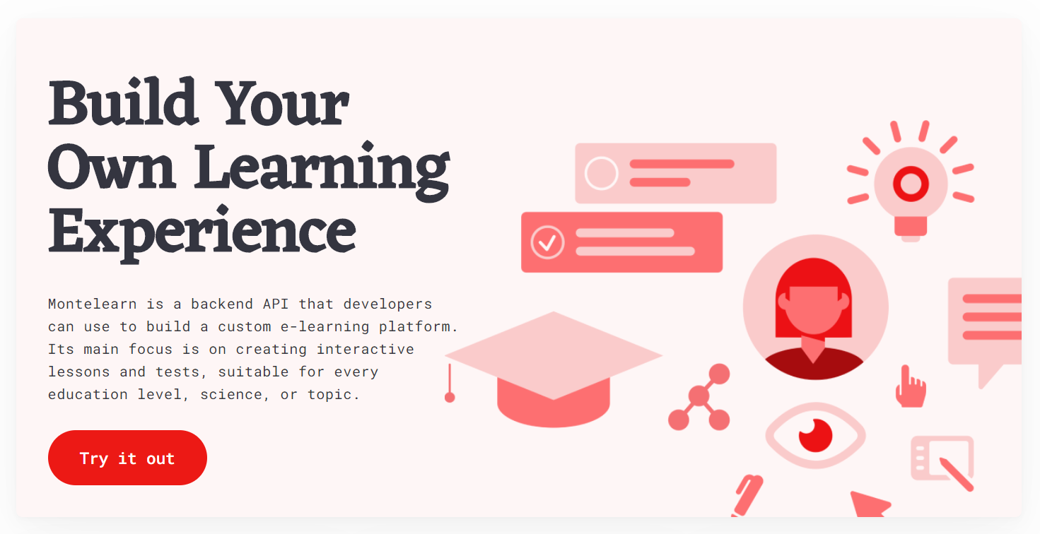 Montelearn — An Open-source Platform for Building E-learning Apps