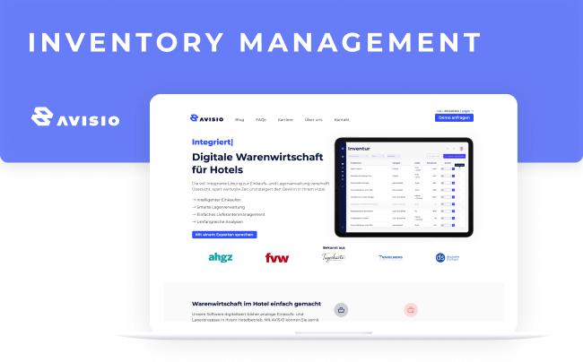 Avisio - inventory management