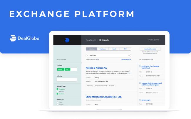 DealGlobe - exchange platform