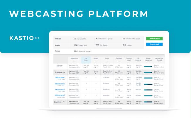 Kastio webcasting platform