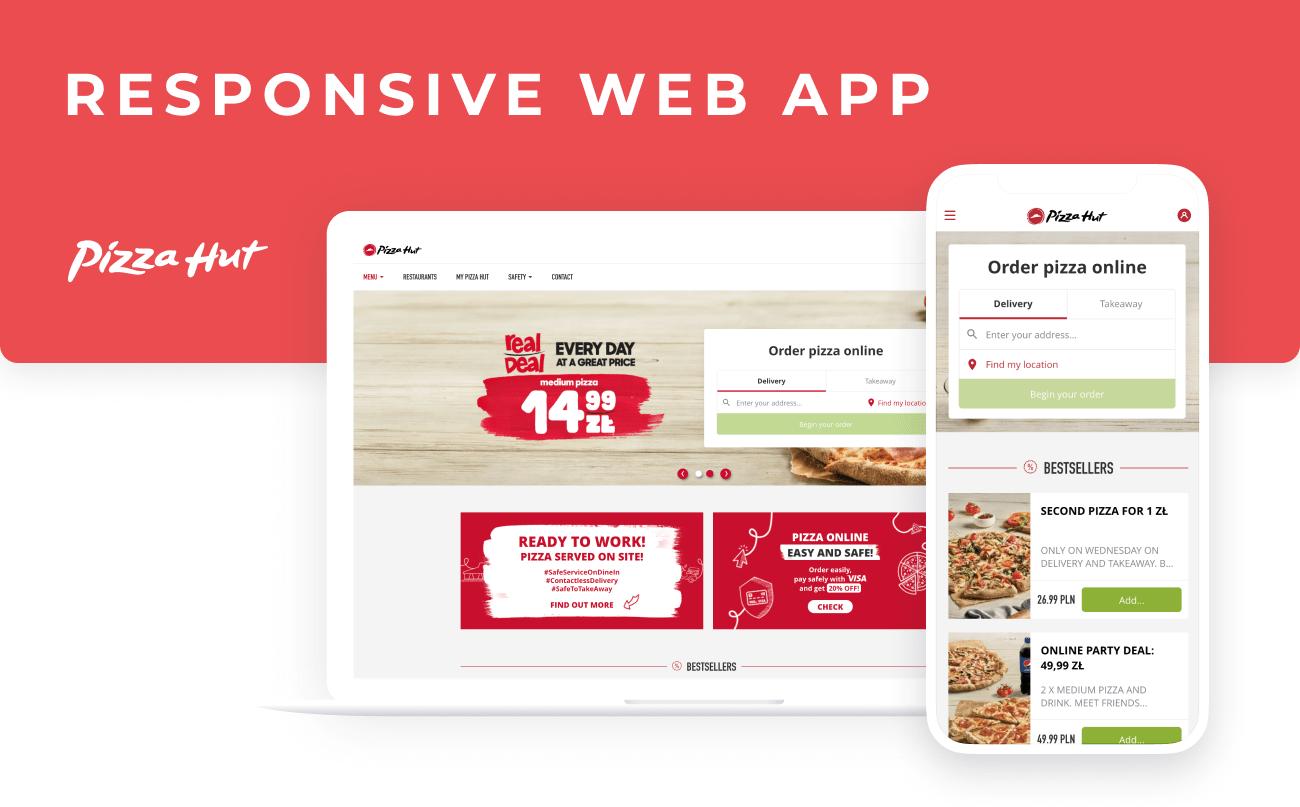 Pizza Hut - responsive web app