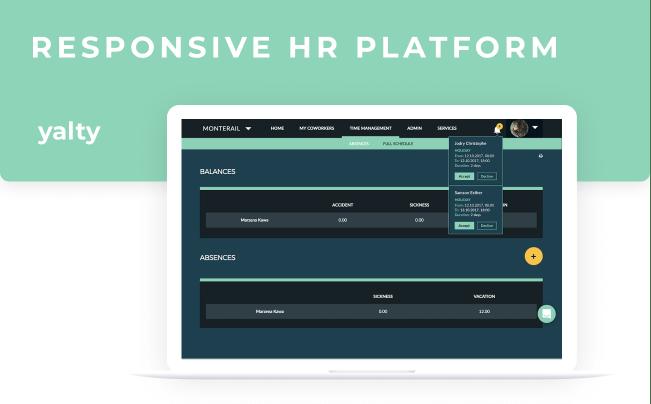Yalty - responsive hr platform